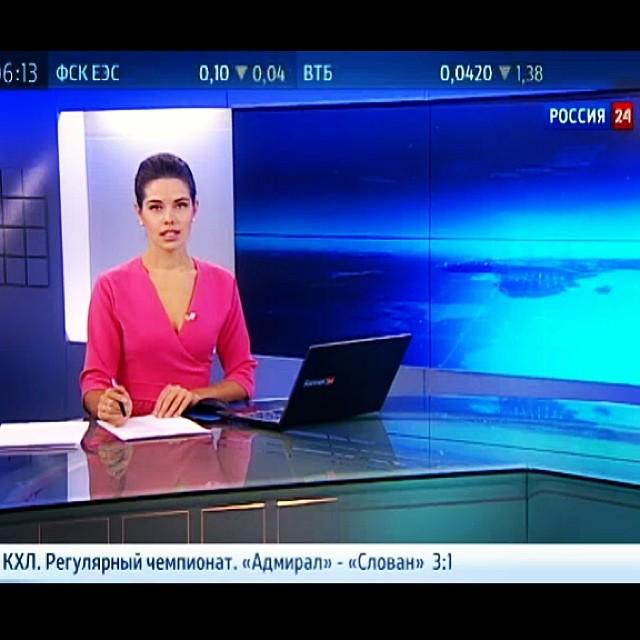 Ведущая на телеканале Россия-24 Вера Красова