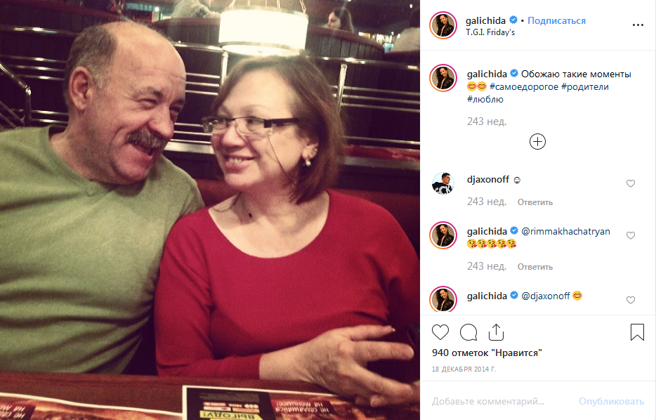 Ида Галич родители