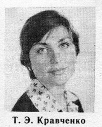 Татьяна Кравченко в молодости