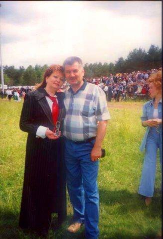Хания Фархи с мужем