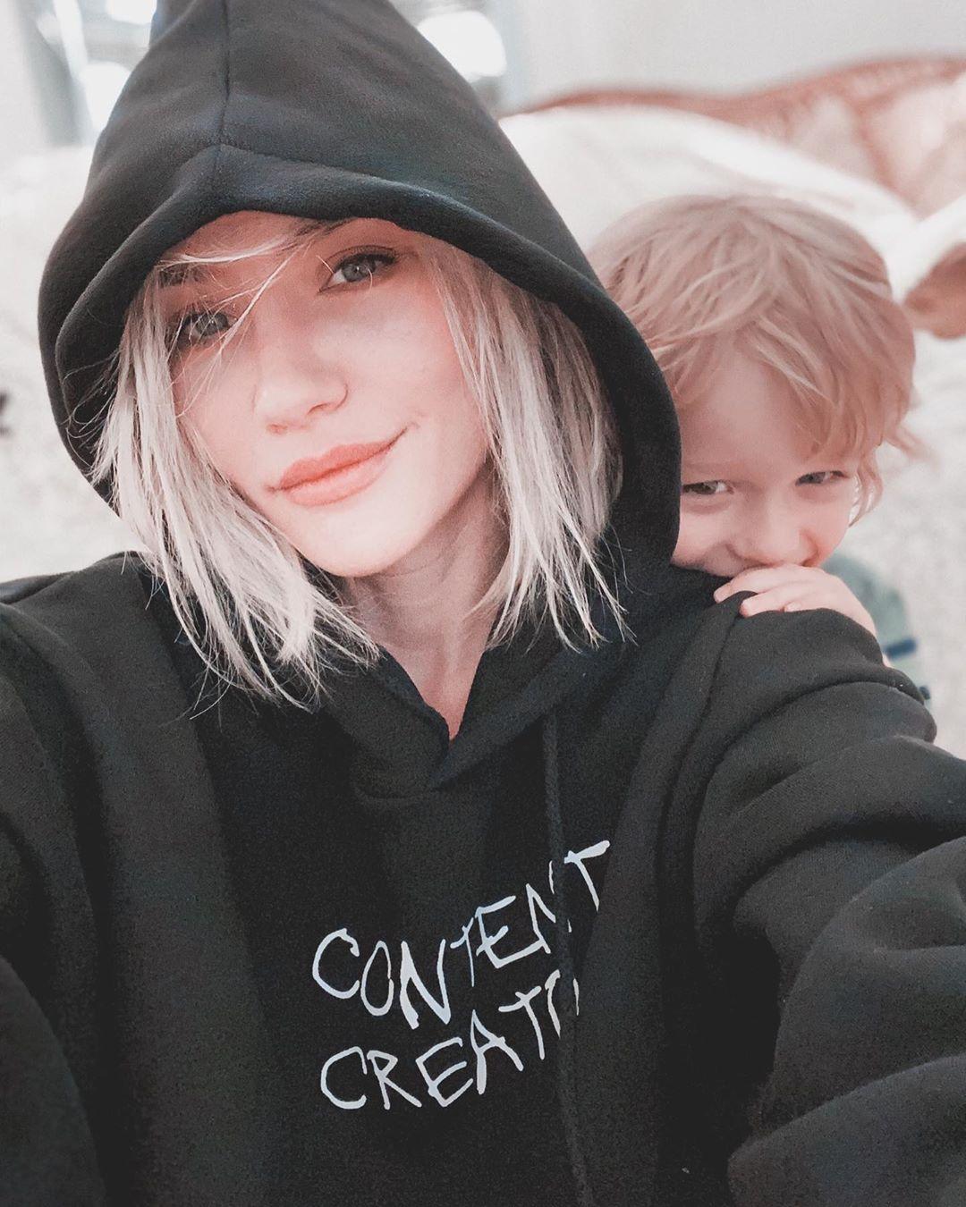 Катя Конасова с сыном
