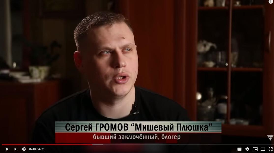 Блогер Мишевый Плюшка (Сергей Громов)