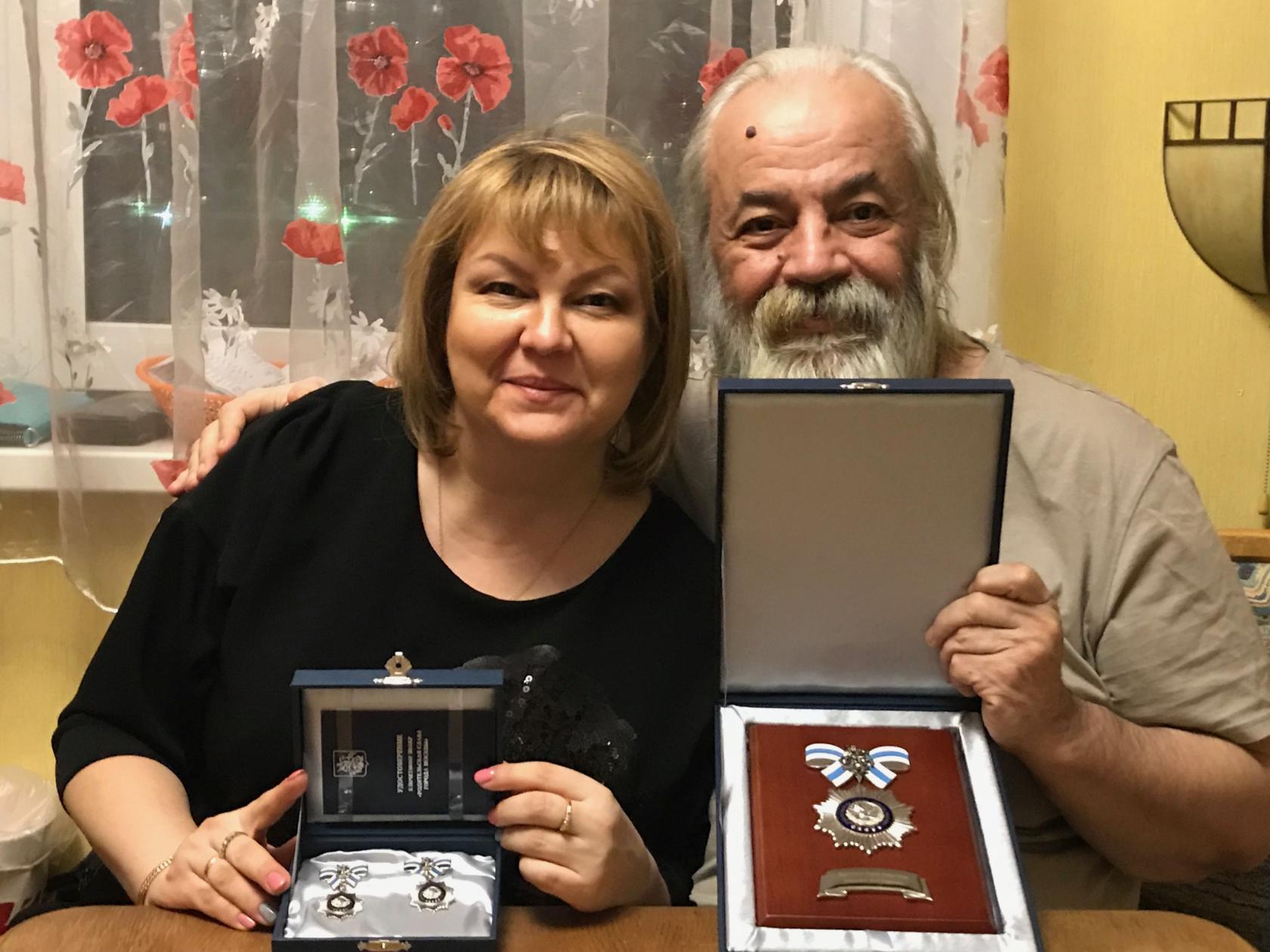 Олег Парастаев с супругой