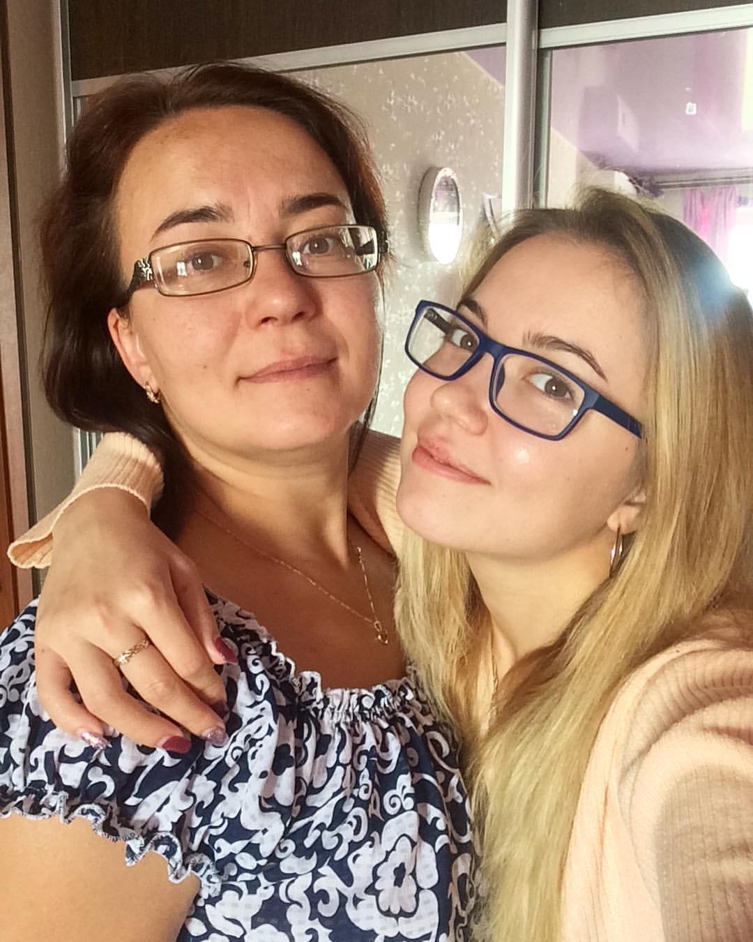 Надежда Попкова с мамой