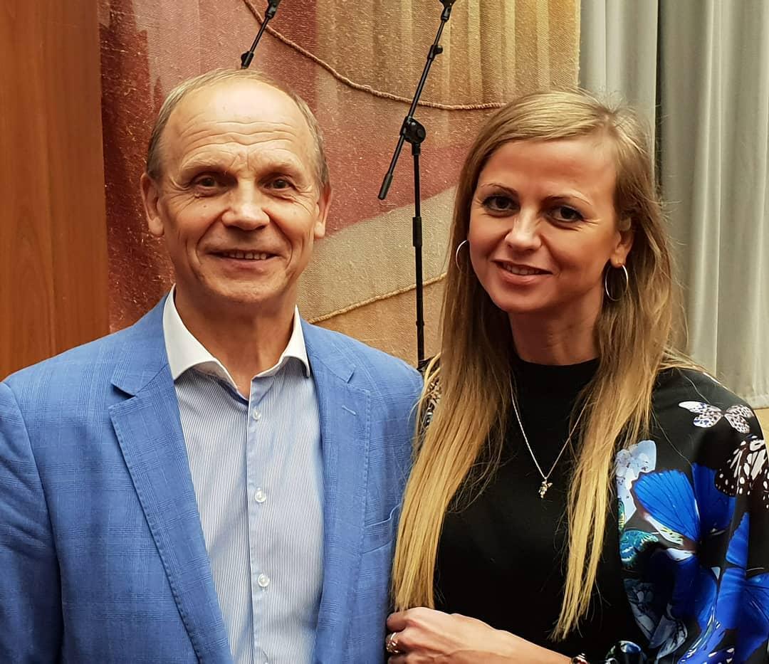Александр Огулов с дочерью