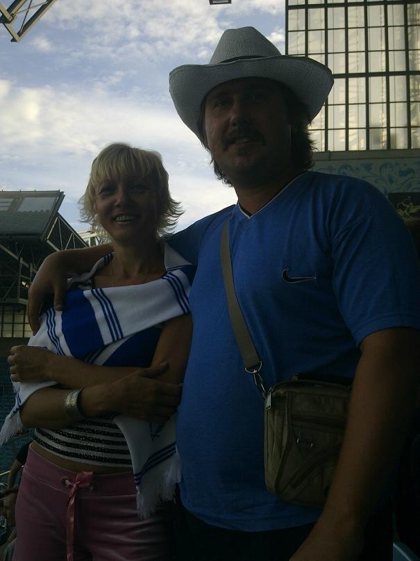 Илья Герасимов с женой